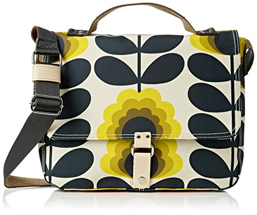 Orla Kiely Summer Flower Stem Satchel, Sacoche Orange (Sunshine)