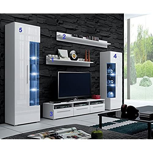 Console Unit, TV Stand, Living Room Set ROMEO, Wall Unit, Entertainment Unit  (TV Unit, 150x32x42cm)