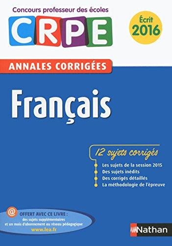 Annales CRPE 2016 : Français