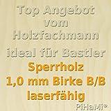 Aeronaut Sperrholz Buchensperrholz 2,0 mm 600x300x2,0