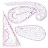 Ropa Moda Regla 4 Piezas Regla Métrica Francesa Plástico Curva Regla de Grado Para Coser Costura Patrón Patrón Plantilla Dibujo Regla de Corte Multiusos