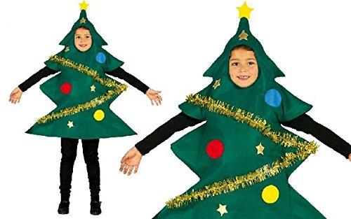 Guirca costume albero di Natale 5–6anni, Multicolore, (42457)