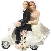 Boda–Figura novia y novio con patinete