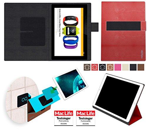 reboon Hülle für Sony Xperia Z4 Tablet Tasche Cover Case Bumper | in Rot Leder | Testsieger