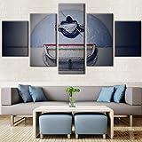 wfdmd Tableau Wandkunstwerk Bilder Leinwand Moderne HD Gedruckt 5 Panel Eishockey Torwart Dekoration Gemälde Modulare Poster 5.0 1 Review2 Orders @ _no_Frame_20X35_20X45_20X55cm