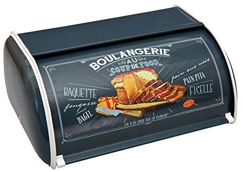 BARBACADO Boîte à pain métal, boîte rangement pain, réserve à pain, boîte à pain frais rétro vintage Boulang