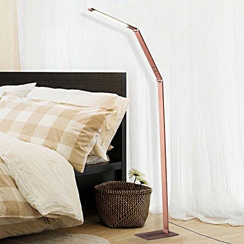 finether 10w led stehlampe standlampe mit gelenk arm dimmer klappbar warmes licht f r. Black Bedroom Furniture Sets. Home Design Ideas
