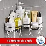 Badezimmerablage Duschregal Ablage Eckregal Duschkorb nagelfrei Keine Beschädigung rostfrei Korb für Küchen- und Badezimmerzubehör