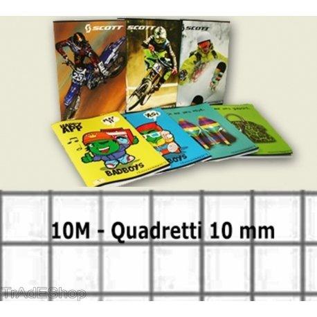 Trade shop traesio® 20 pezzi quadernoni quadernone quadretti 1 cm 10 mm 10m quaderni quaderno a4