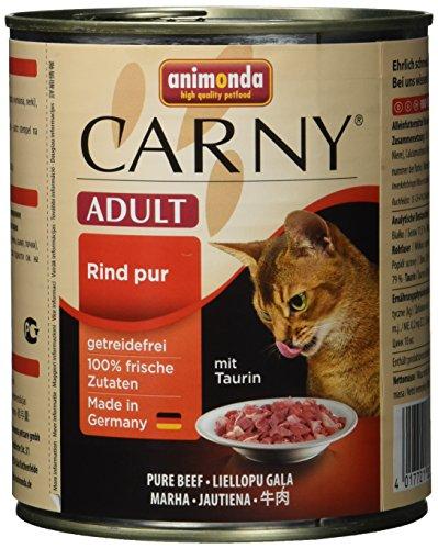 animonda Carny Adult Katzenfutter, Nassfutter für erwachsene Katzen, Rind pur, 6 x 800 g