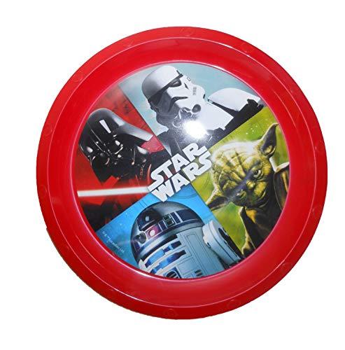Ensemble DE 2 Assiettes incassables et 1 Verre en Plastique pour Enfants MODELE: Star Wars
