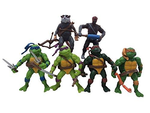 Ensemble de 6 TMNT Teenage Mutant Ninja Turtles Action-Figuren Spielzeug-Kollektion Classique en (Ninja Mutant Videos Teenage Spielzeug Turtles)