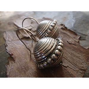 ✿ GERILLTE TRIBAL ETHNO KUGEL ✿ runde Ohrringe