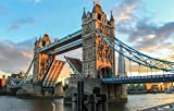 Zopix Poster Tower Bridge London Abend England Wandbild -