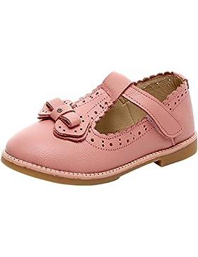 [Patrocinado]rismart Niñas Colegio Formal Princesa Hermosa Cuero Zapatos de Vestir