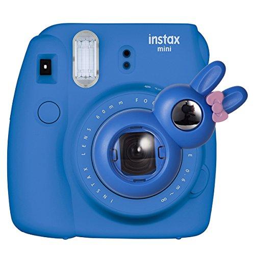 CAIUL Style Lapin Close Up Lens Selfie Portrait pour Appareils photo de Instax Mini 8 8+ 9 7s et Polaroid 300(Bleu Cobalt)