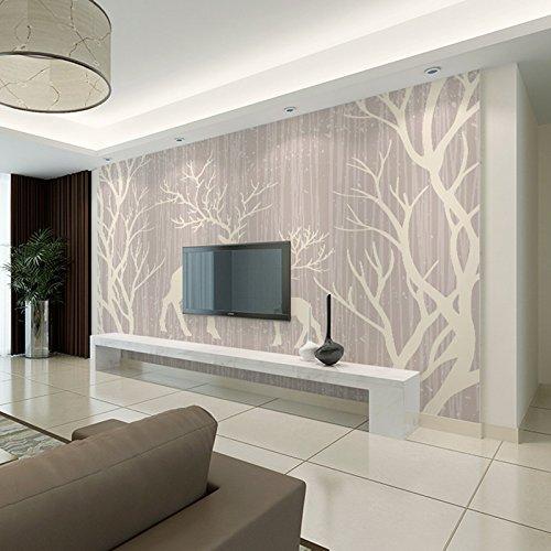 Preisvergleich Produktbild ZCHENG Scandinavian modernes minimalistisches Sofa im Wohnzimmer TV Hintergrund Tapete Wandwandverkleidung Film und Fernsehen Retro Elch Wald,  400x280 cm (157, 5 von 110, 2 in)