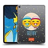 Head Case Designs Offizielle Emoji Zwillinge Sternzeichen Ruckseite Hülle für iPad Pro 11 (2018)