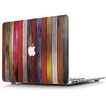 """Funda MacBook Pro 15 Retina,L2W MacBook Pro 15,4 pulgadas plástico dura de goma con Protector Caso para MacBook Pro 15"""" con Retina Display modelo: A1398 (Patrón madera textura MW-3)"""