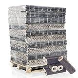PALIGO Holzbriketts PiniKay Hartholz Buche Eiche Kamin Ofen Brenn Holz Heiz Brikett 10kg x 96 Gebinde 960kg / 1 Palette Heizfuxx