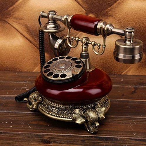 Telefoni voip creativo rotary telefono antico continentale retro telefono home office stand fisso retro telefono