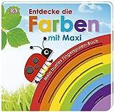 Mein buntes Fingerspuren-Buch. Entdecke die Farben mit Maxi: Pappbilderbuch mit Fingerspuren ab 18 Monaten