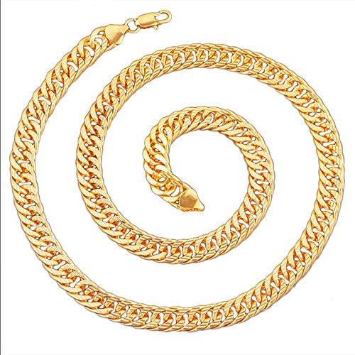 DUHLi Adult Gold Gangster/Rapper Chain Halskette 60Cm (Selbstmordkommando Dekoration) (Quinn Neue Kostüm Harley)