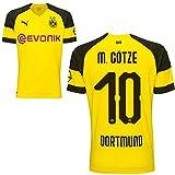 Puma BVB Borussia Dortmund Fußball Home Trikot 2018 2019 Kinder Heimtrikot Mario Götze 10 Gr 164