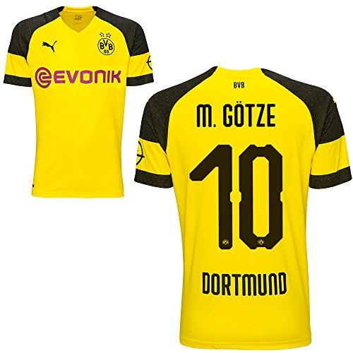 Puma BVB Borussia Dortmund Fußball Home Trikot 2018 2019 Herren Heimtrikot Mario Götze 10 Gr L