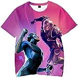 SERAPHY Fortnite t-Shirt à Manches Courtes Fortnite 3D imprimé Tshirt Toddler des Cadeaux Merveilleux pour Les garçons Q1079-130...