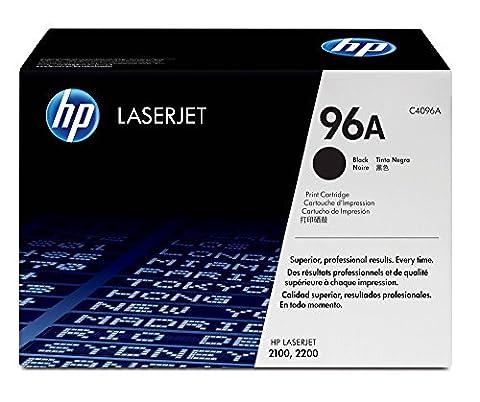 HP 96A Black Original LaserJet toner cartridge, packaging may vary