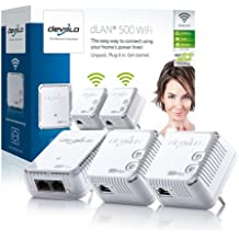 Devolo dLAN 500 WiFi PLC - Adaptador de red Powerline (500 Mbps, Ethernet/WLAN), blanco [importado]