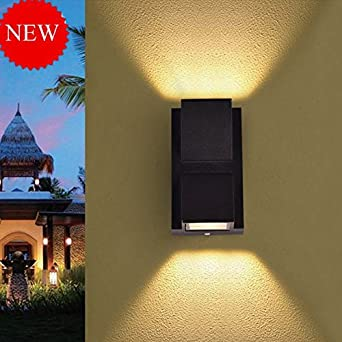Buy glitz up down outdoor led wall light ip65 warm white built buy glitz up down outdoor led wall light ip65 warm white built in osram led grey aluminium die casting body 6 facade light 2 x 3 watts online at low aloadofball Images