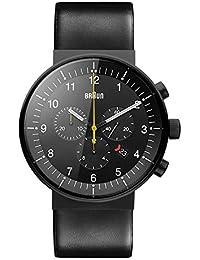 Braun Herren-Armbanduhr Analog Quarz Leder BN0095BKG