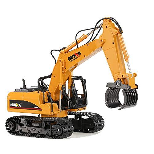 JTIH® RC Car 2.4G RC Bagger 16 Kanäle Metalllast RC Auto Modell Spielzeug Auto Demonstrator Automatisches Auto Spielzeug, Jedes Gelenk kann Sich frei bewegen
