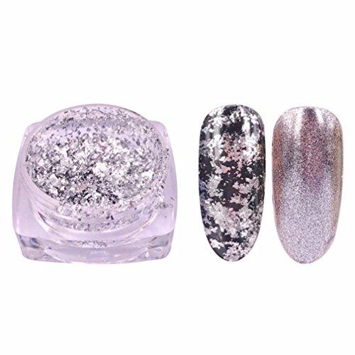 TPulling Spiegeleffekt Schnell Trocken Langlebig Nagelfarbe Folie Galvanisierung Yunjin Pulver Nagel Glitter Sequins Nail (A)