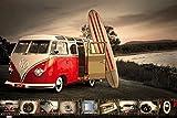Maxi-Poster 61x91.5 cm VW (Brendan Ray) Kombi Surfboard Bulli Bus