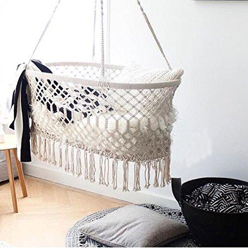 *Here&There Baby Wiege Aufhängen Bette Hängematte Wiegen Babywiege Kinderbett Quaste Brasil Comfort Gitterbett Miansheng Webart (C#)*