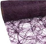 100 Deko Diamanten + 25 m x 20 cm Sizoweb® Vlies Original Tischband Tischläufer Pflaume violett