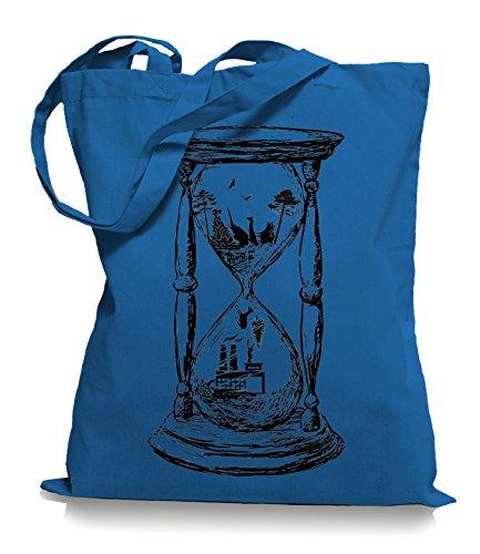 Ma2ca® Save the Nature - Naturschutz Jutebeutel Stoffbeutel Tragetasche / Bag WM101 Cornflower Blue