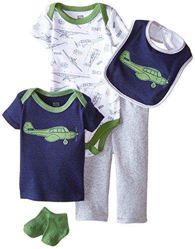 HUDSON BABY 58104 Baby Junge Bekleidungs Set 5-teilig Flugzeug Größe: 0-3 Monate