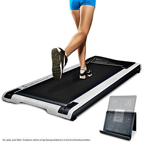 DESKFIT DFT200 Laufband für/unter Schreibtisch - fit und gesund im Büro & zu Hause. Bewegen und ergonomisches Arbeiten, Keine Rückenschmerzen - mit praktischer Tablet-Halterung, Fernbedienung und App -