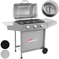 broil-master 3 Burner BBQ Gas Grill Steel Barbecue