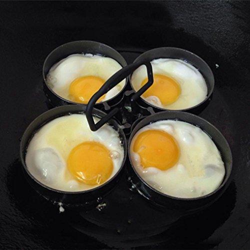 4PC Aluminium Omelet Pfannkuchen Formeinrichtung, Kangrunmy Fantastisch Schnell & einfach Weg nach Machen Perfekt Kochen Werkzeug
