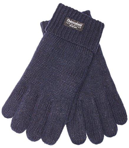 EEM Herren Strick Handschuh LASSE, 100% Wolle, Thinsulate warm, Winterhandschuh; navy, Größe XL