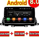 ROADYAKO Android 8.0 Head Unit für KIA Sportage 2018 Autoradio Stereo mit GPS-Navigation 3G WiFi Spiegelverbindung RDS FM AM Bluetooth AUX Media Audio Video