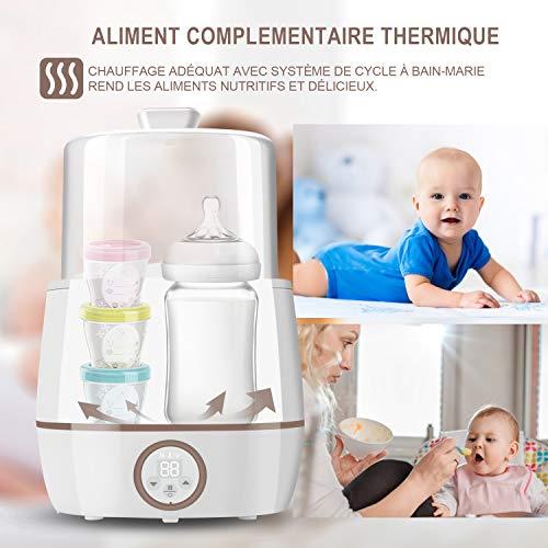 Chauffe biberons electrique UPPEL chauffe biberons et sterilisateur 3 en 1 Chauffage Thermos et Stérilisateur, chauffe biberon multifonction (Blanc-1)