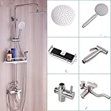 Doccia in acciaio inox 304 set doccia calda e fredda rubinetto spray boiler spray può sollevare su e giù, C