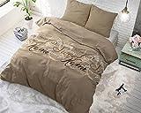 Bettwäsche Sleeptime Royal Luxury, 200cm x 200cm, Mit 2 Kissenbezüge 80cm x 80cm, Braun