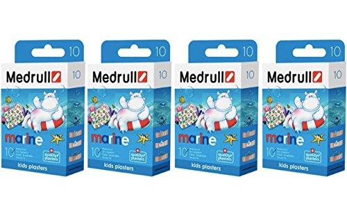 Medrull Kinder Pflaster Sensitiv MARINE 4er Pack (4 x10 Stück) - Hello Kitty Pflaster